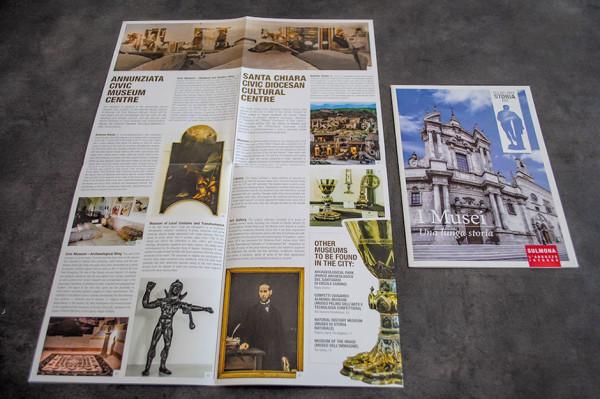 Pieghevoli tematici sui musei di Sulmona