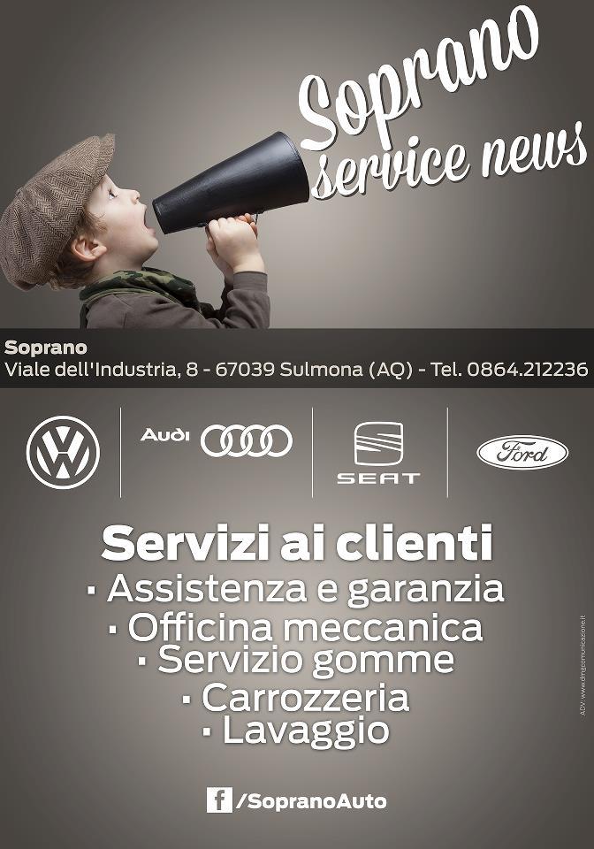 Soprano Auto: inserzioni pubblicitarie