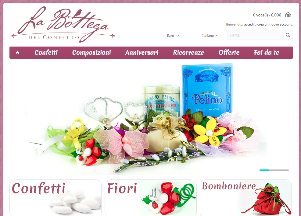 La Bottega del Confetto: e-commerce