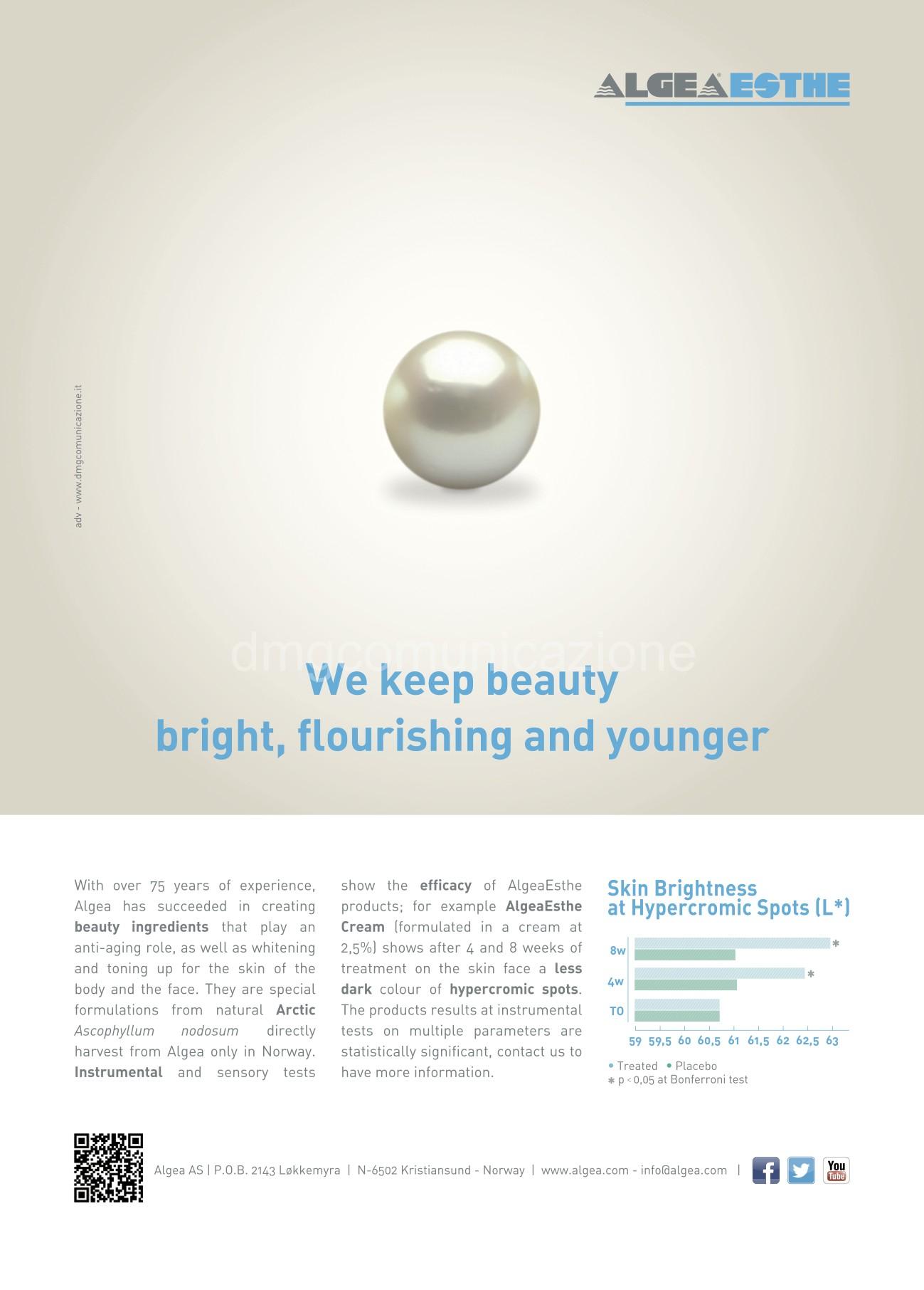Algea Esthe: campagna pubblicitaria