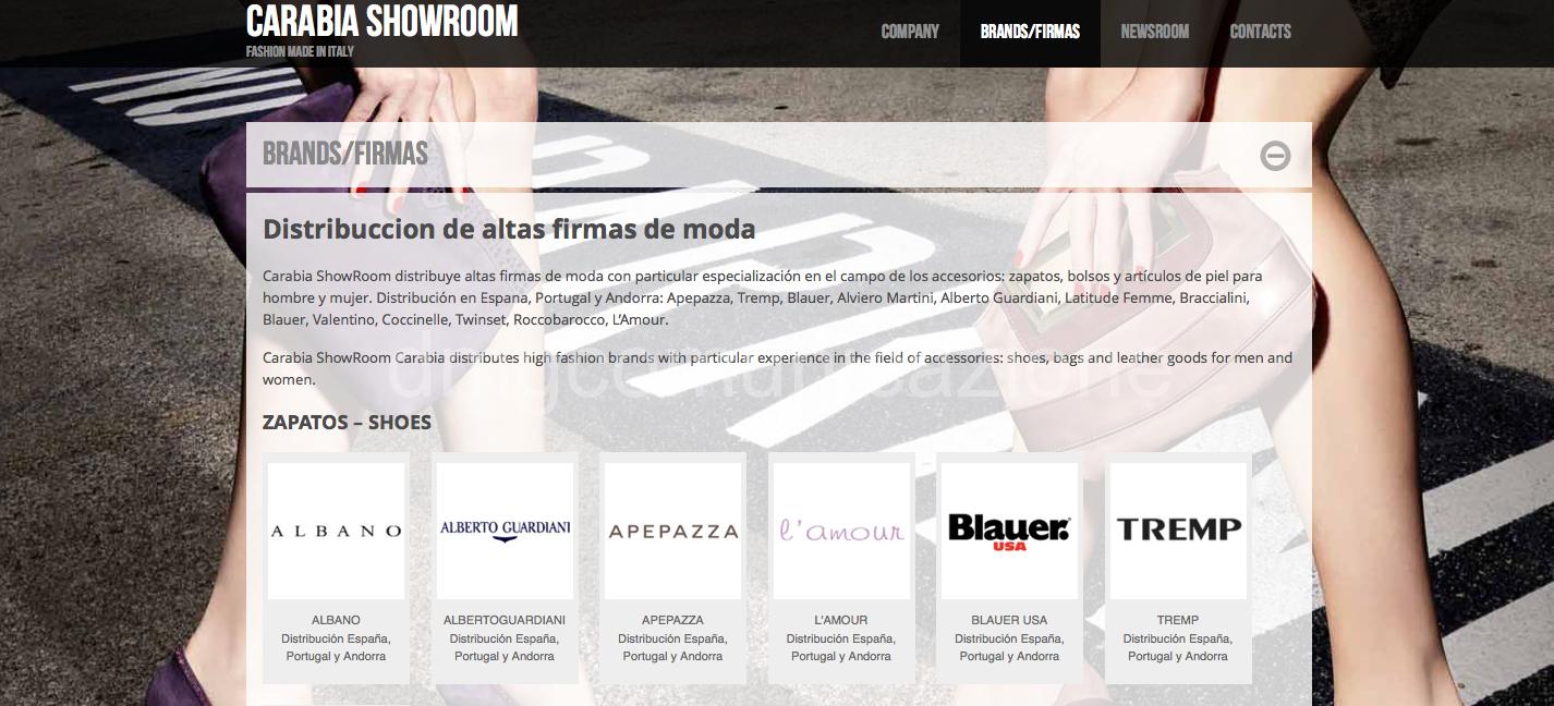 Carabia Showroom Madrid moda italiana