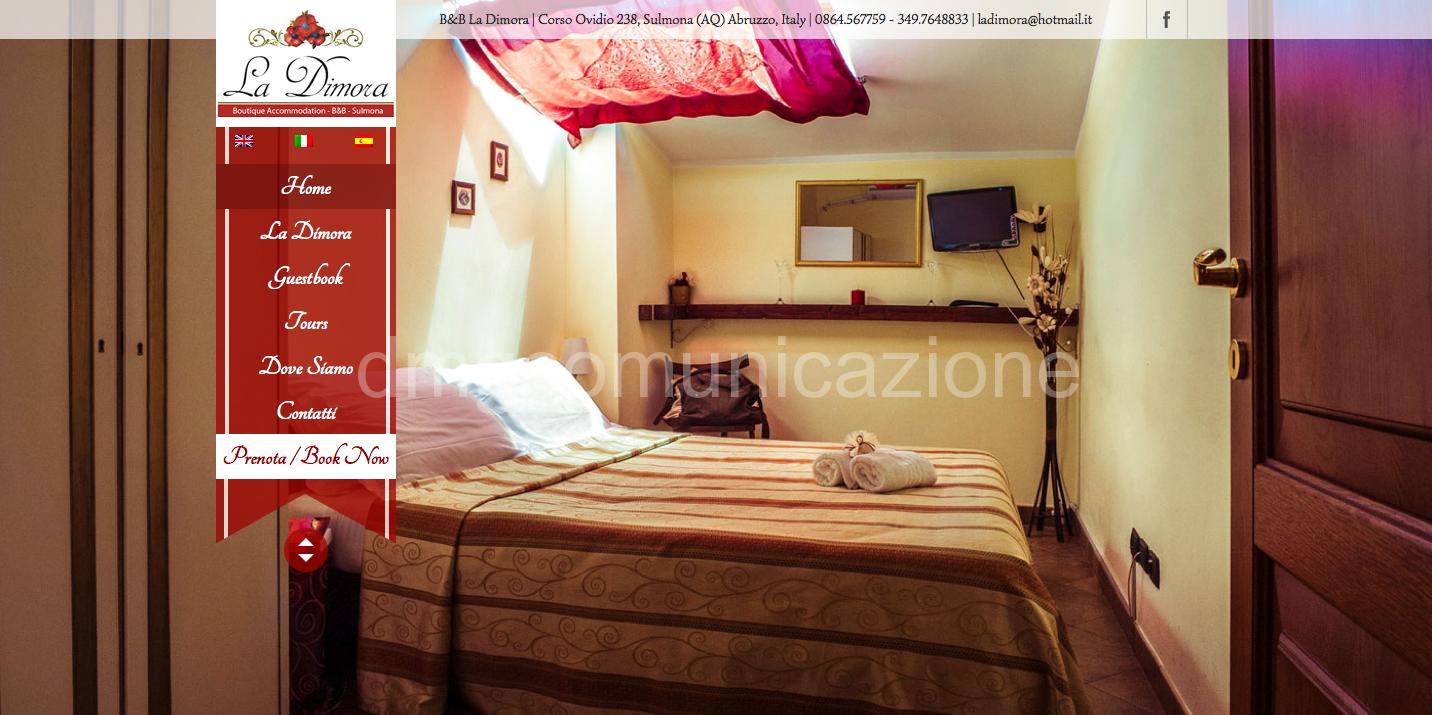 B&B La Dimora Sulmona: nuovo sito web