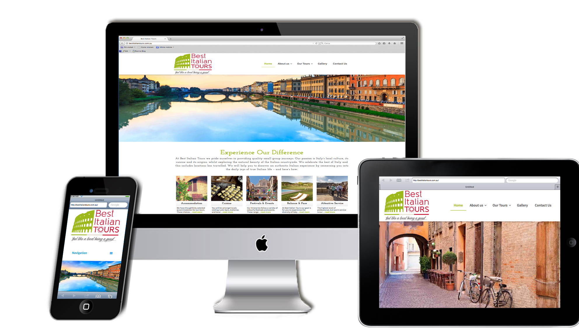 Best Italian Tours: sito web