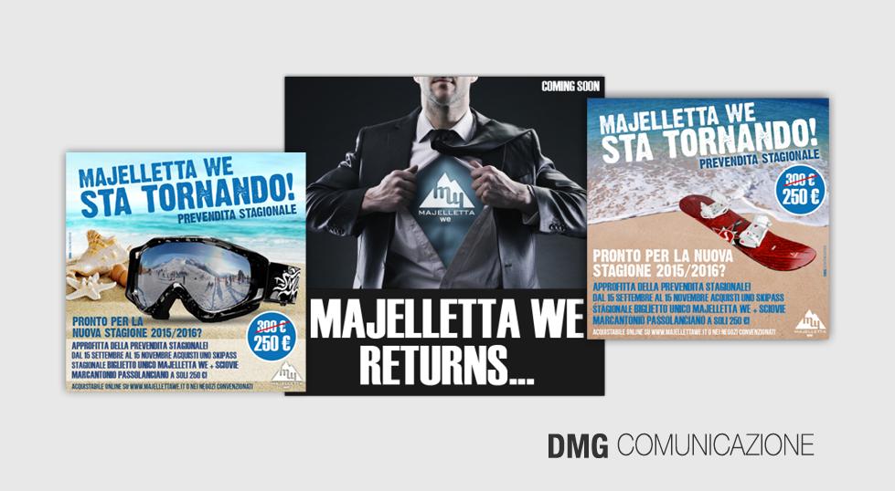Majelletta WE: campagna pubblicitaria