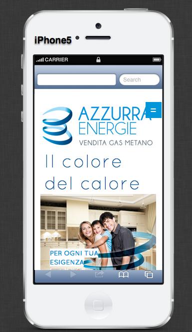 Azzurra Energie sito responsive iphone smartphone
