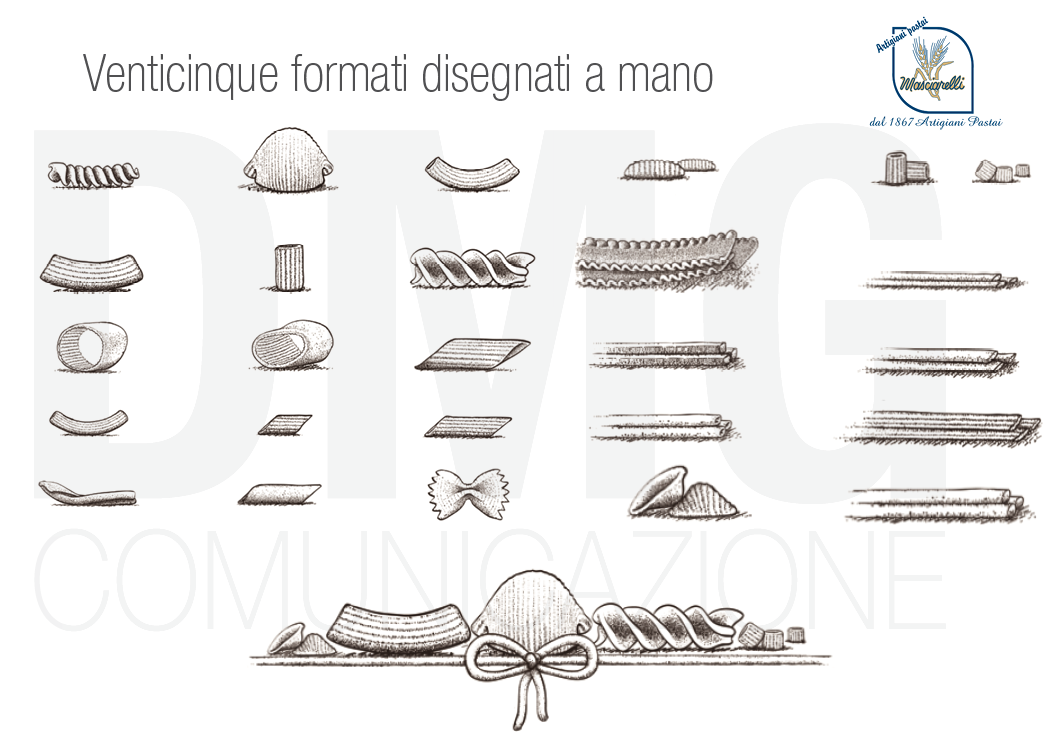 pastificio masciarelli nuovo packaging disegnati a mano- dmg comunicazione copyrights