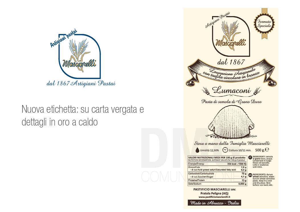 pastificio masciarelli nuovo packaging etichetta- dmg comunicazione copyrights