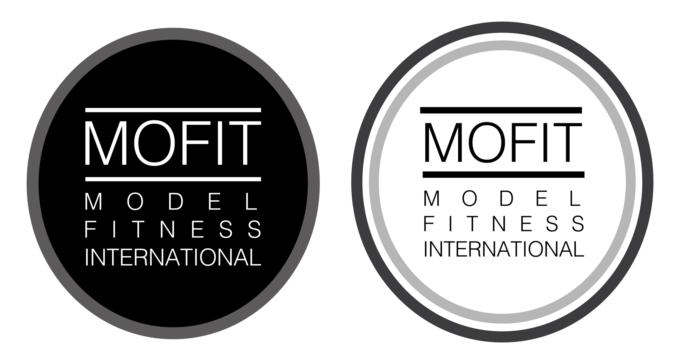 logo mofit model fitness international agency